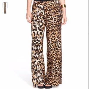 Lauren Ralph Lauren Leopard Print wide leg pants